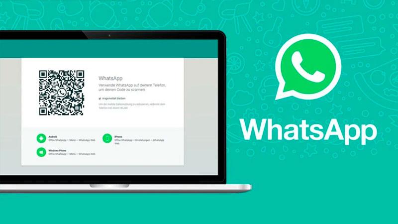 Acessando o WhatsApp web em um notebook