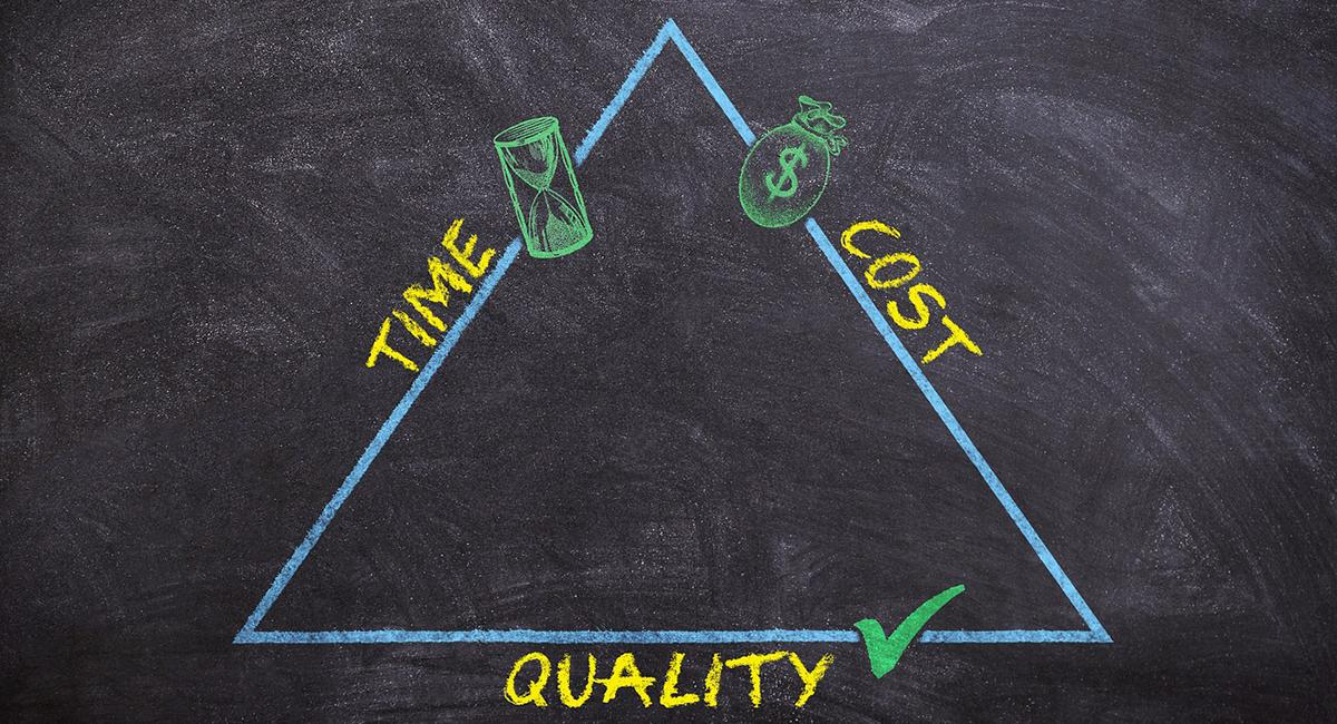 Quality versus Time and Cost