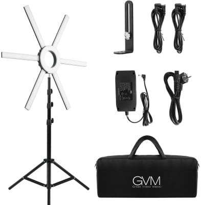 GVM – Set de iluminación para vídeo y aro de luz