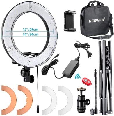 Neewer – Aro de luz LED de 14 pulgadas