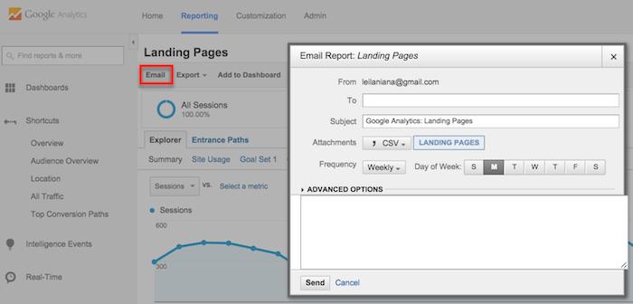 Automatizar o envio de relatórios no Google Analytics