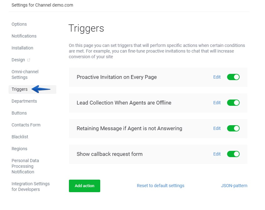 How to set up your own Smart Triggers on JivoChat