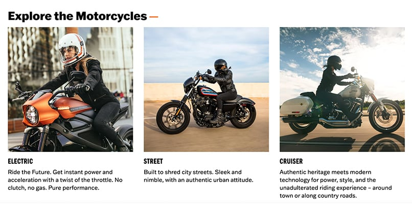 A picture of Electric, Street and Cruiser motorcycles by Harley-Davidson