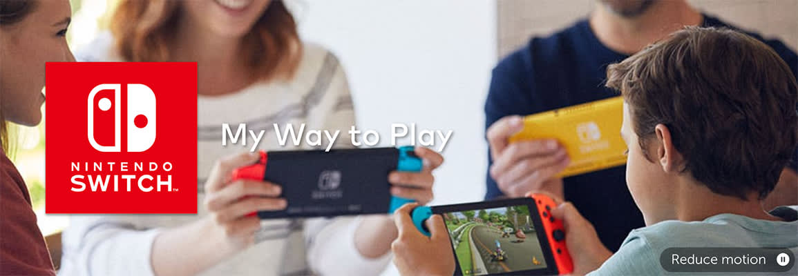 Picture of people playing on a Nintendo Switch
