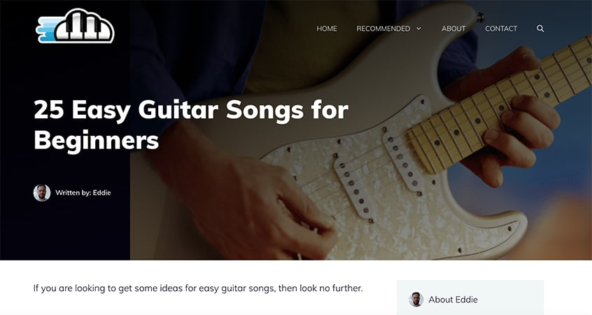 25 Easy Guitar Songs for Beginners at Musician Authority