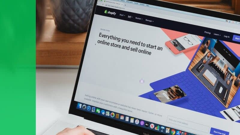 """The image shows Shopify screen where its written""""Everything you need to start an store and sell online"""""""