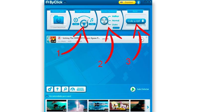 Captura da tela inicial do ByClick