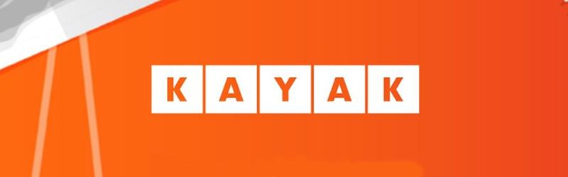 Logo da Kayak em fundo plano
