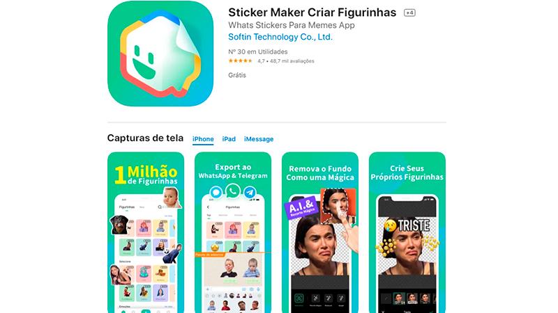 App para fazer figurinha