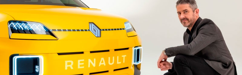 Carro Renault da cor amarela