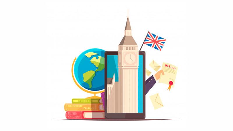 Certificado de um curso de inglês online