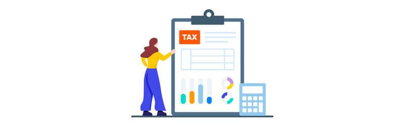 Pessoa calculando o Imposto de Renda