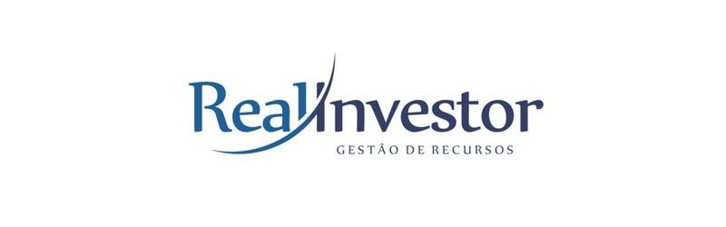 """Logo da Real Investor com slogan """"gestão de recursos"""""""