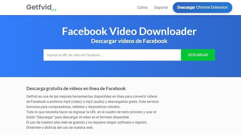 Getfvid como descargar un video de facebook