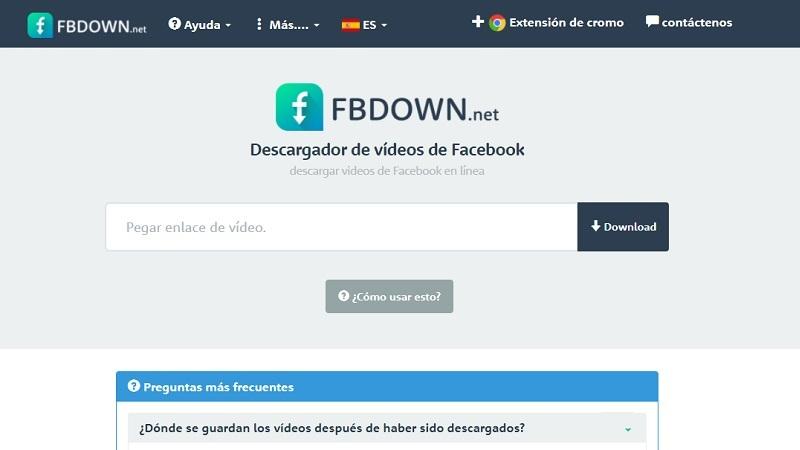 como descargar videos de facebook con FBDown