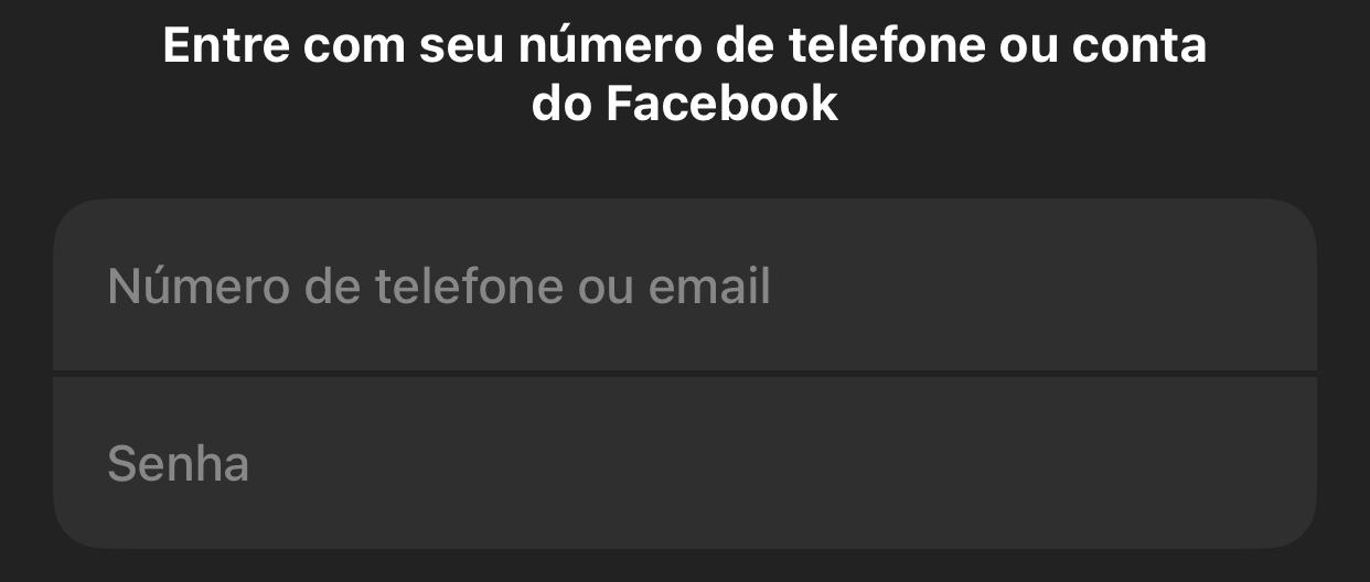 Imagem da tela de login do Messenger com campo para preencher e-mail e senha