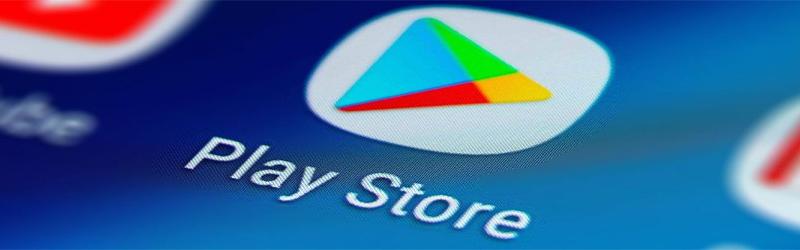 Imagem tirada da tela de um celular com o ícone da Play Store.