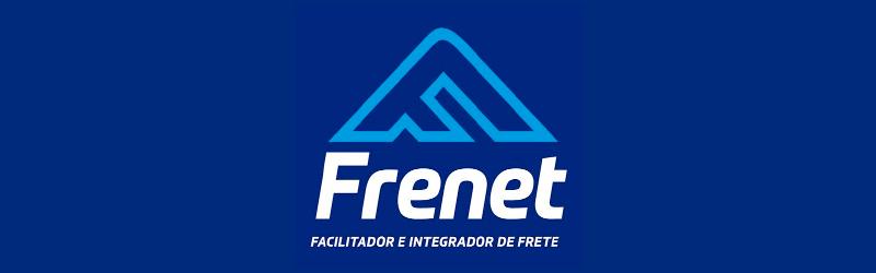 Banner com o logo da calculadora de frete Frenet
