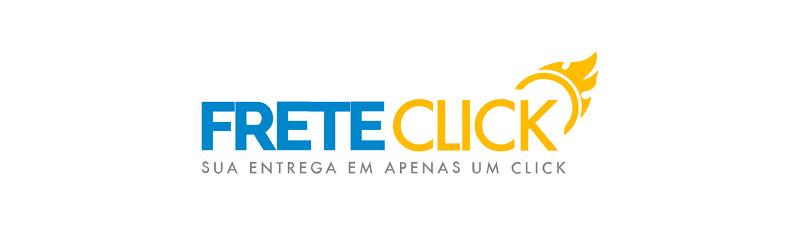 Banner com o logo da calculadora de frete Frete Click