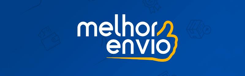 Banner com o logo da calculadora de frete melhor envio