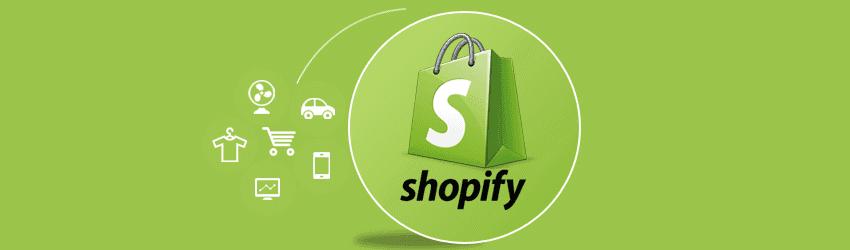 Imagem com o logo da empresa shopify