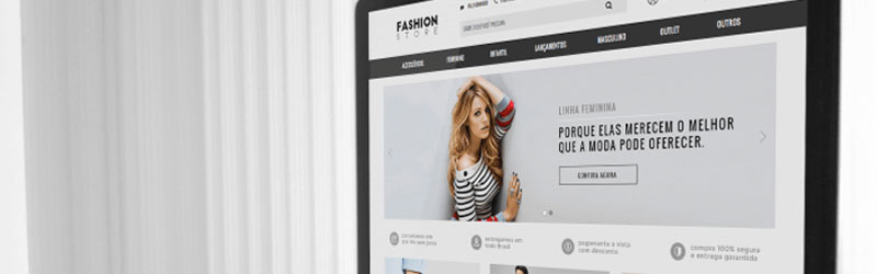 Site criado com o tema para Loja Integrada Fashion Store Soft Edition
