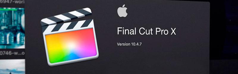 Janela de programa de um Mac com o ícone do Final Cut Pro X
