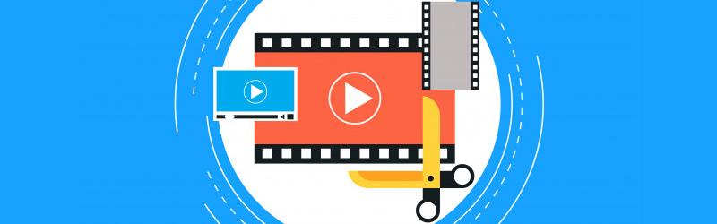 Uma arte de uma película de filme com uma tesoura aberta
