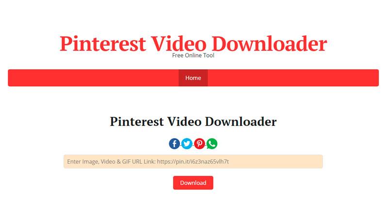 Como baixar vídeos no Pinterest video Downloader