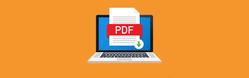 Uma arte de um notebook aberto com um arquivo em PDF aberto