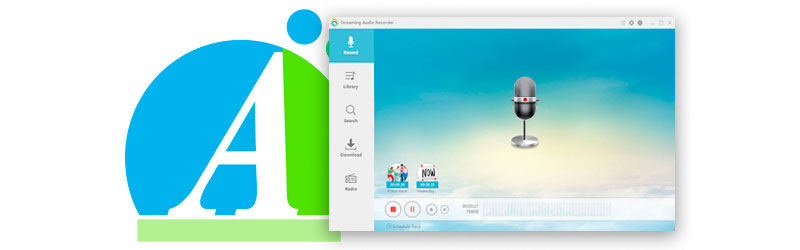 Captura de tela do programa e logo da Apowersoft