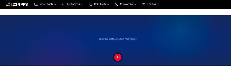 Captura de tela do Online Voice Recorder