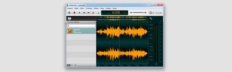 Captura de tela de uma janela do Ocenaudio
