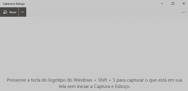 Tela do programa Captura e Esboço do Windows
