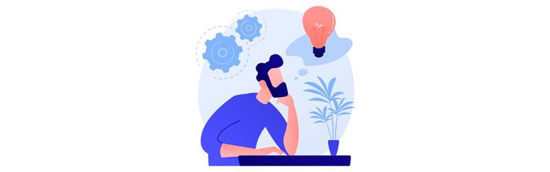Homem trabalhando e pensando no ambiente ao seu redor
