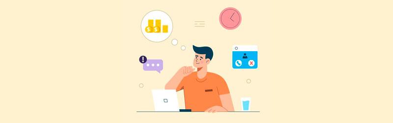 Empreendedor pensando nos temas do seu curso online