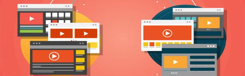 Ilustrações de diversas plataformas de vídeos.