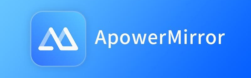 Banner com ícone do ApowerMirror