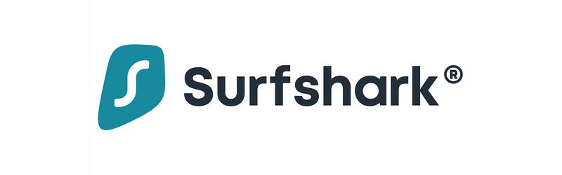 Banner com a logo do Surfshark VPN