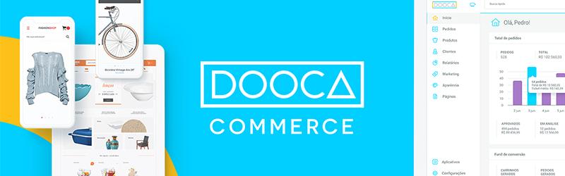 Banner com logo da Dooca Commerce