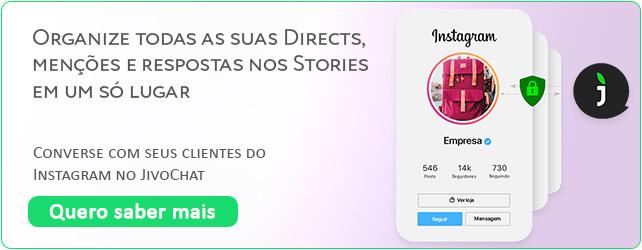 Banner de integração do JivoChat com Instagram