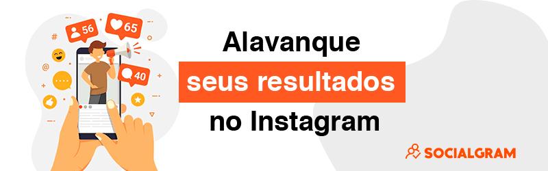 """Banner com logo do Socialgram escrito """"alavanque seus resultados no Instagram"""""""