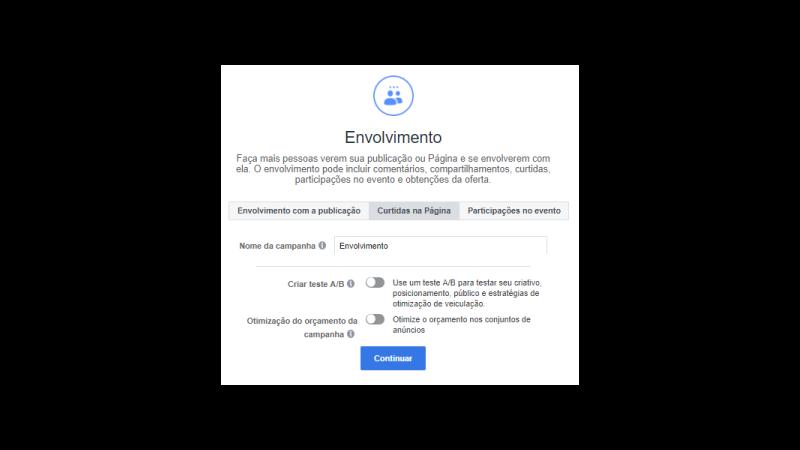 Prit screen envolvimento do anúncio no Facebook Ads