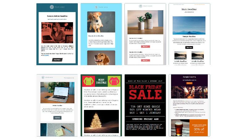 Templates de e-mail marketing AWeber