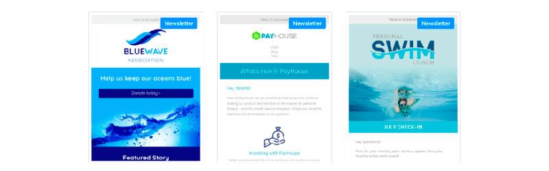 Modelos de e-mail marketing do sendinblue