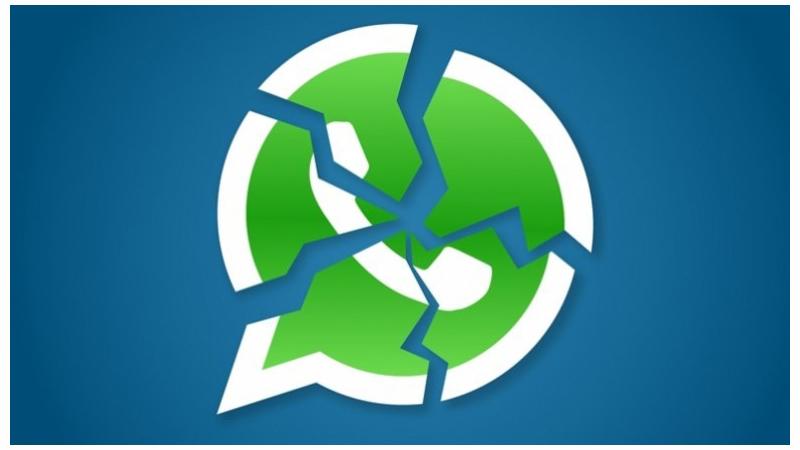 Ilustração do logo do WhatsApp quebrado