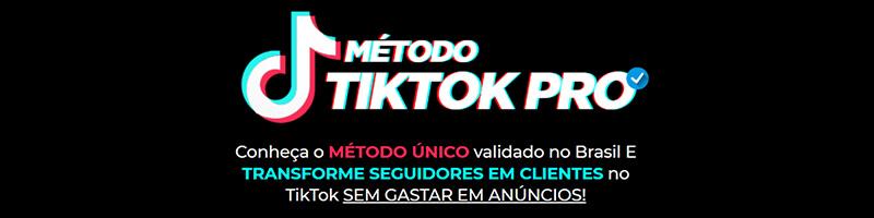 Banner do curso método Tik Tok Pro.