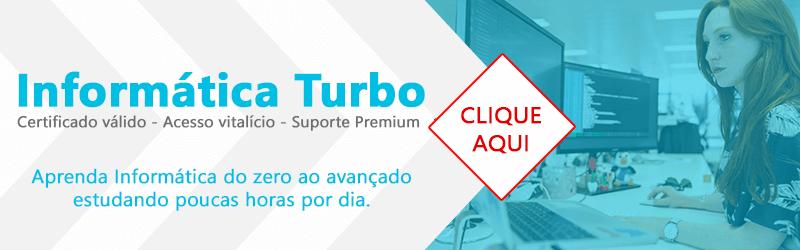Banner do curso de informática online - Informática Turbo