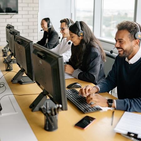 Agentes en un Call Center