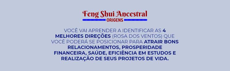 Captura de tela do site do curso de desenvolvimento pessoal Feng Shui Ancestral